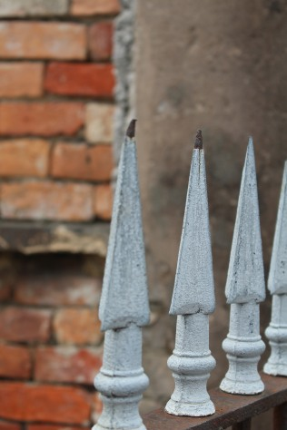 Ironwork spikes, St. Louis Cemetery 1, New Orleans