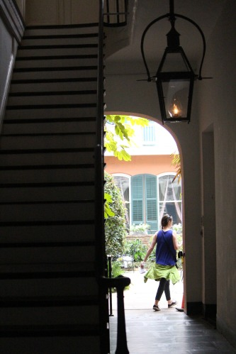 Glimpse of a courtyard in New Orleans French Quarter