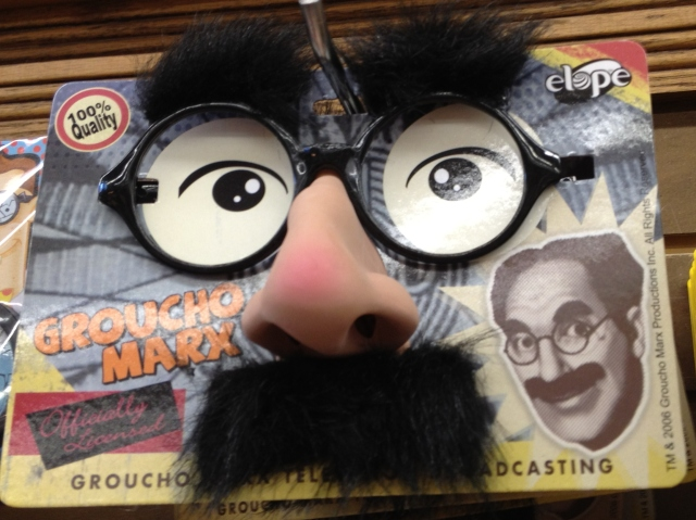 A Groucho Marx dress-up kit found in a store in Asheville, NC.