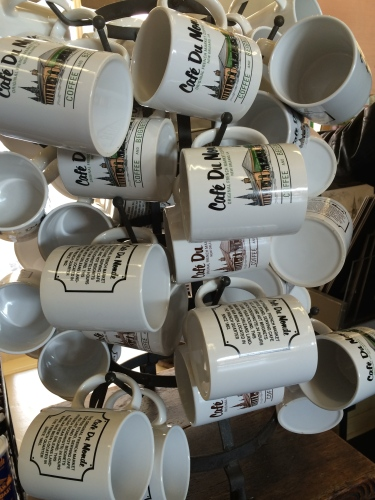 Signature mugs from Cafe Du Monde