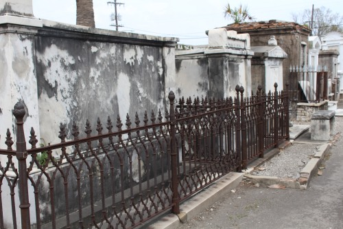 Row of fencing, St. Louis Cemetery 1