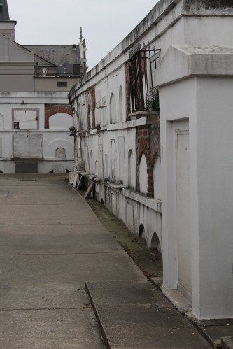 In the back of the cemetery, the poor were buried, stacked one on top of another rather than in individual tombs.