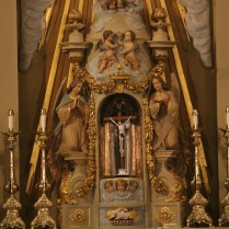 Golden altar at St. Louis Cathedral, New Orleans
