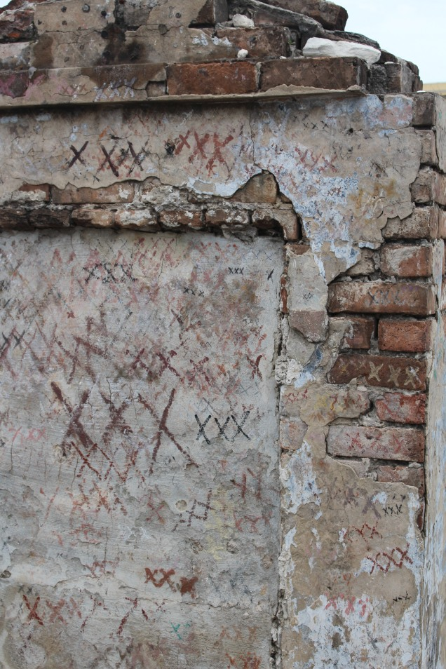 Tomb marked with Xs, St. Louis Cemetery, New Orleans