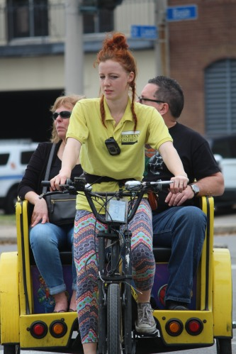 Pedaling the tourists -- New Orleans