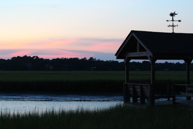 Early evening creek dock: Pawleys Island.