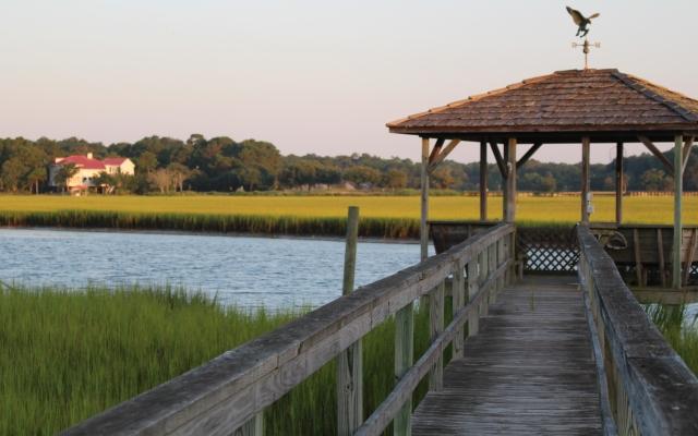Sundown at the dock:  Pawleys Island, South Carolina.