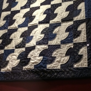 One of many quilts given to Barbara Bush