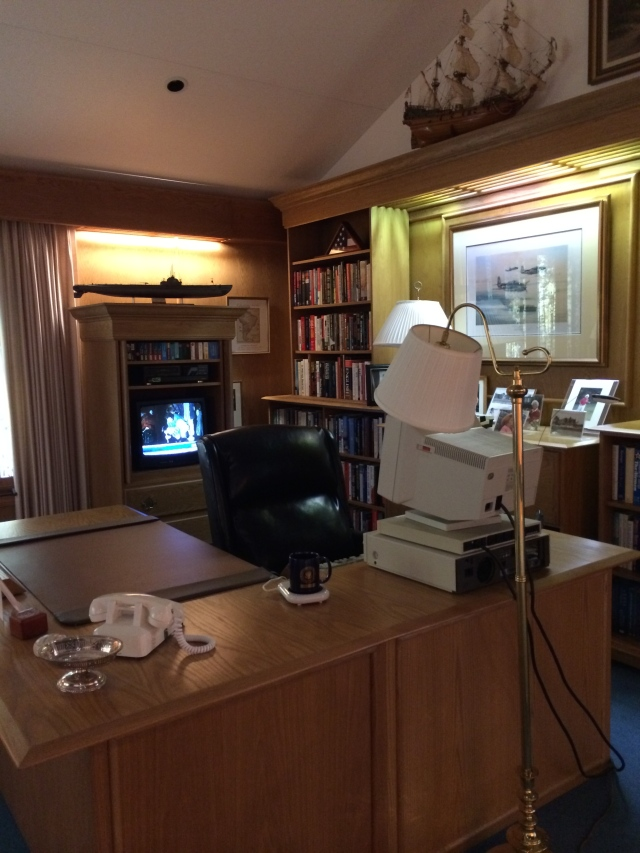 Replica of Bush's Camp David in Bush Presidential Library