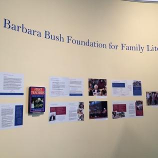 Wall dedicated to Barbara Bush Foundation for Family Literacy