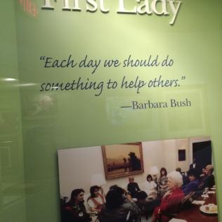 From First Lady, Barbara Bush