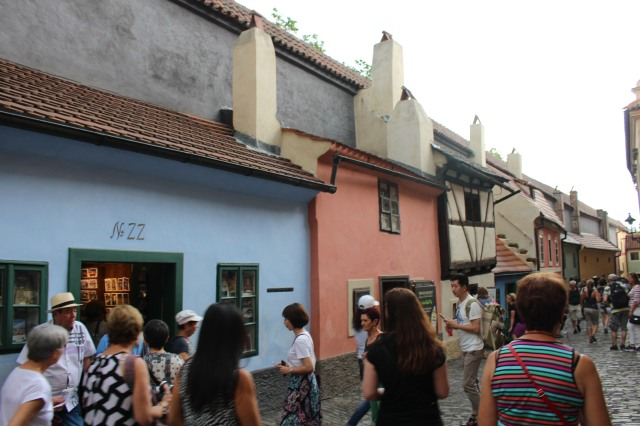 House No. 22 at Golden Lane, Prague where Kafka lived from 1916-1917.