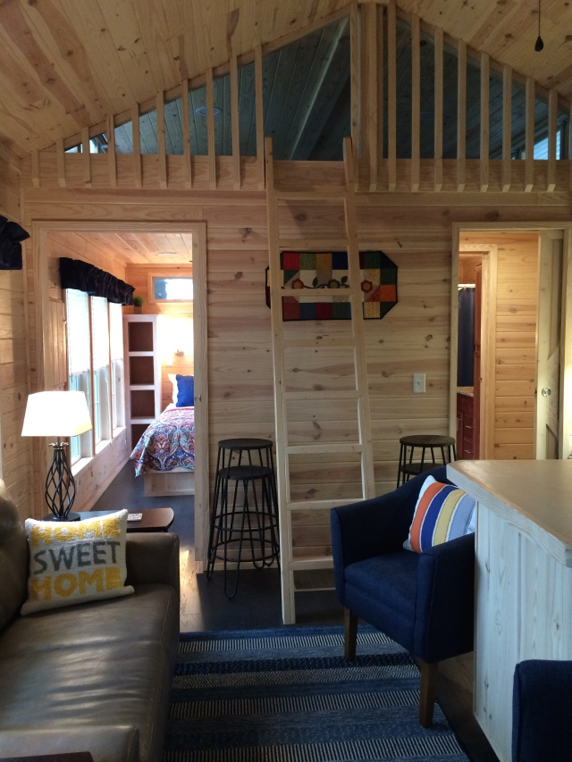 Our home away from home: a tiny house in Flat Rock, North Carolina.