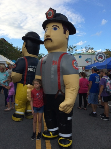 Firefighters in costume at Apple Festival 2016