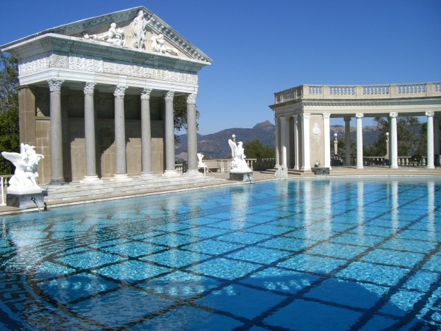 Exterior pool, Hearst Castle