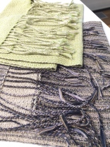 Handwoven scarves by Amanda Thatch