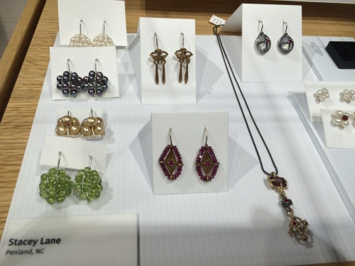 Fine jewelry designs by Stacey Lane on display at Penland School of Crafts