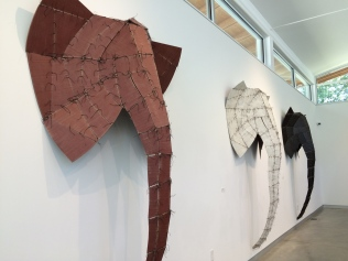 Lining the walls: larger-than-life elephant heads