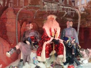 Santa and high fashion at Selfridges, London