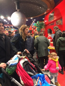 Crowds at Hamleys Toy Store, London
