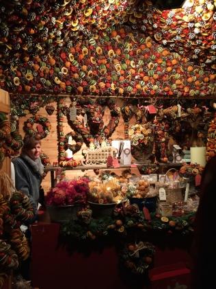 Dried fruit decorations: Bath Christmas Market