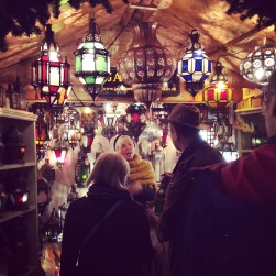 The exchange between buyers and sellers: Bath Christmas Markets