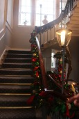 Elegant stairs deserve elegant roping. Welcome to the holidays at The Royal Crescent!