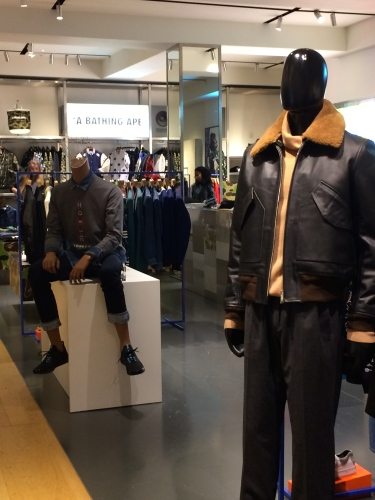 Not sure why, but Bert wouldn't even try on clothes from A Bathing Ape.