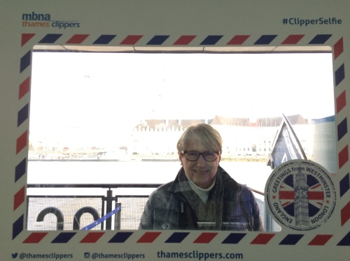 Is it only crazy, old Americans who take Thames Clipper selfies? Surely not.