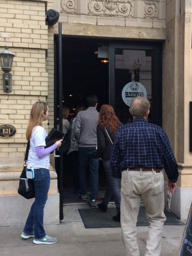 Members of Chef's Table Tour file into Clancy's, ready to be surprised!
