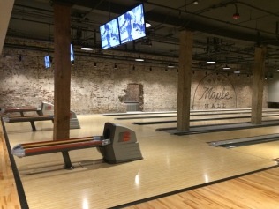 Knoxville's boutique bowling alley with exposed brick walls, gleaming floors and state-of-the-art systems.