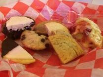 Basket of sweet treats from Sugar Mama's Knox.