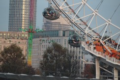 Pulling up close to London Eye