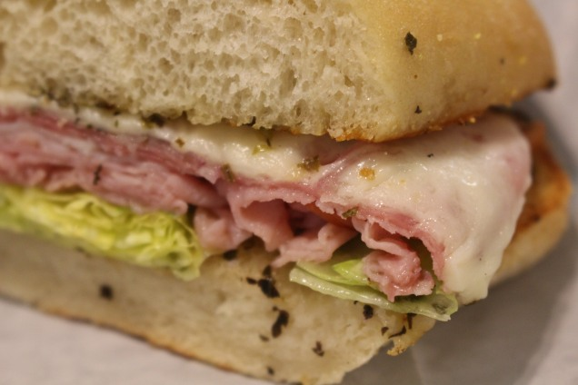 Italian Sub (AKA The Usual) -- Ham, Turkey, Genoa Salami and that great homemade dressing!