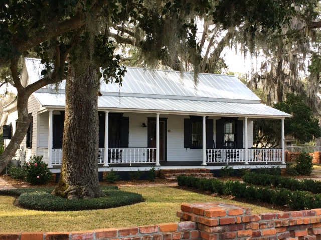 Lowcountry house and live oak tree in Bluffton, SC.