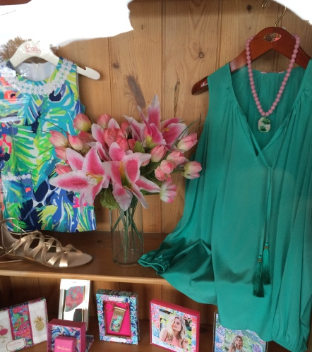 Colorful island wear at S. M. Bradford Co., Hilton Head.