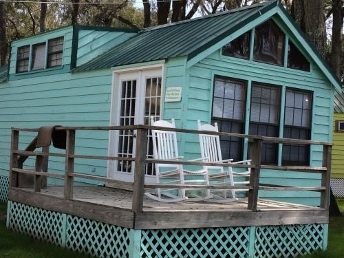 Turquoise rental house on Daufuskie Island, SC
