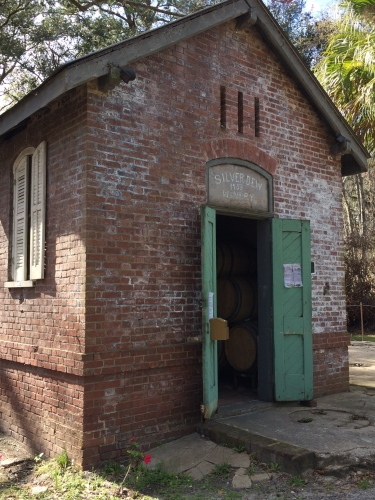 Old Silver Dew Winery building on Daufuskie Island