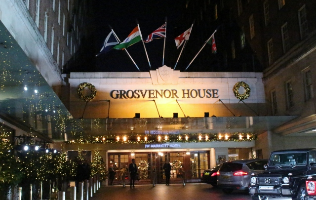 First impression the night we arrived at Grosvenor House in London!