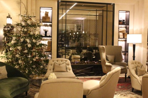 Tastefully decorated with comfortable seating: the lobby at Grosvenor House.