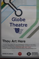 Sign at Globe Theatre, London