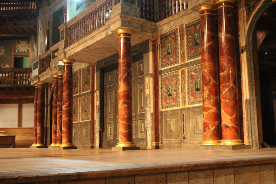 Back of stage area, Globe Theatre