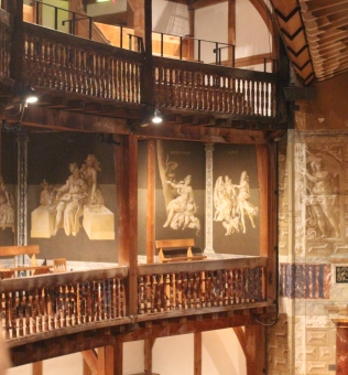 Balcony seats at Shakespeare's Globe