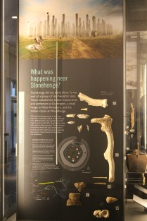 Descriptive panel mentioning Woodhenge at Visitors Center, Stonehenge