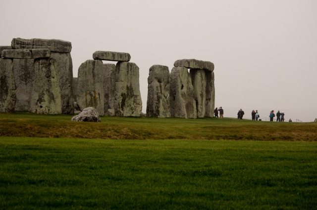 Gray day mystique at Stonehenge