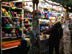 Colorful yarns at Guildhall Market in Bath