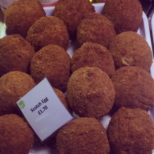 Scotch Eggs at Guildhall Deli in Bath, England
