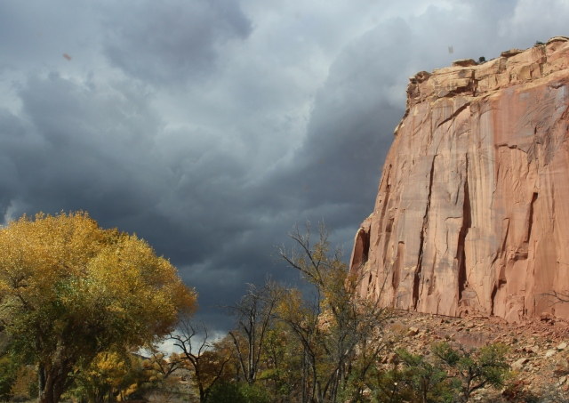 Storm brewing at Capitol Reef.