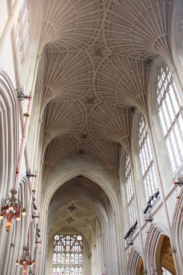 Superb fan vaulting in Bath Abbey