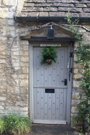 Old Refectory Cottage door -- the Cotswolds